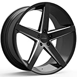5 lug 22 inch rims - Rosso AFFINITY 705 Gloss Black/Milled Wheel with Milled Finish (22x8.5