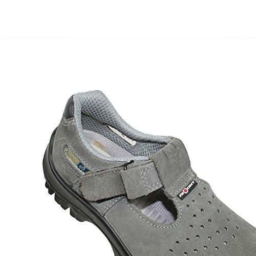 AIMONT - Calzado de protección de Piel para hombre Negro negro gris