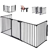 Gate Fence Fireplace Constructed of heavy duty tubular steel For Pet Child Safety Adjustable - Light weight, Sturdy and easy to assemble Dimensions 17'' x 29'' Black New