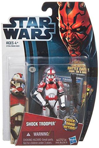 Star Wars Movie Heroes 2012 Action Figure MH01 Shock Trooper 3.75 Inch (Trooper Clone Shock)