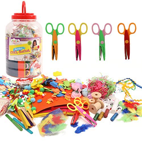 Kraftic All in One Jumbo Craft Bucket, Create Over 200 Assorted Craft Projects ()