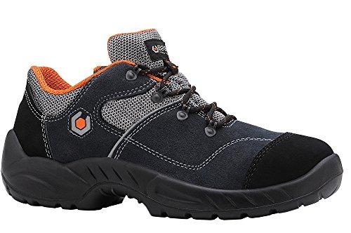 Base bo155Garibaldi S1P SRC Smart para hombre antideslizante con cordones zapatos de seguridad Azul - azul marino