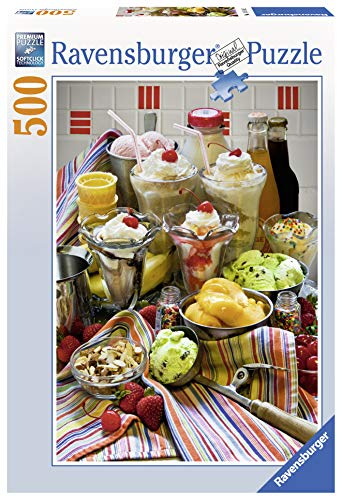 Ravensburger Just Desserts 500 Piece Jigsaw Puzzle for Adults - Every Piece is Unique, Softclick Technology Means Pieces Fit Together Perfectly
