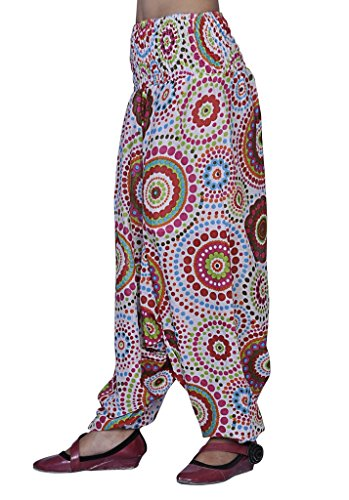 Jaipur Kala Kendra Mujer Algodón Harén Pantalones blanco