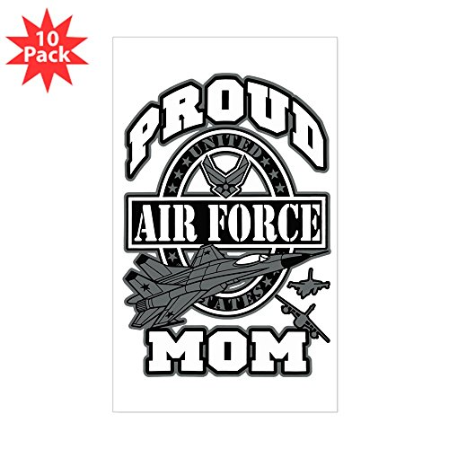 Sticker (Rectangle) (10 Pack) Proud Air Force Mom -