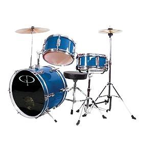 GP Percussion GP50MRB Complete Junior Drum Set (Metallic Royal Blue, 3-Piece Set) 22