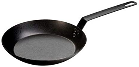 """Hand forged 10/"""" carbon cooking skillet black new pre seasoned heirloom non stick"""