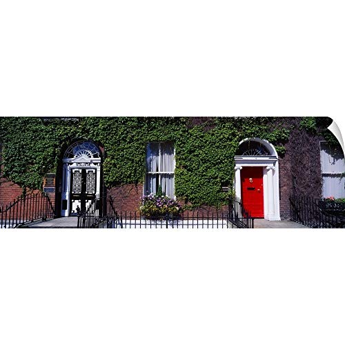 "CANVAS ON DEMAND The Irish Image Collection Wall Peel Wall Art Print Entitled Georgian Doors, Fitzwilliam Square, Dublin, Ireland 72""x24"""