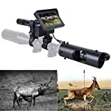 KOLINLOV Night Vision Scope for Riflescope Long Viewing Range Night Hunting Clear Vision with Camera Infrared Flashlight and 4.3 inch Display Screen