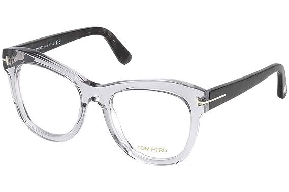 0f851fa7dd Amazon.com  Tom Ford FT5463 Eyeglasses 52-19-140 Gray Crystal 020 ...