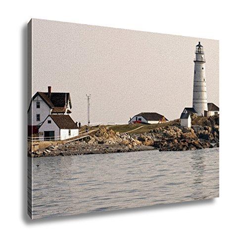 Boston Harbor Lighthouse - Ashley Canvas, Boston Harbor Lighthouse In Early Summer Evening, 20x25