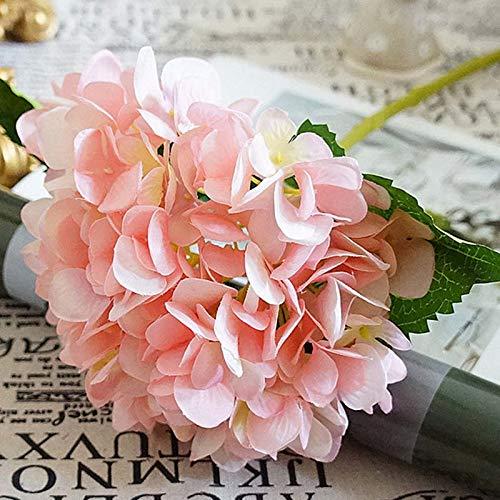 Artificial Dried Flowers - Artificial Flowers Silk Hydrangea Head Ball Chrysanthemum Fake Flower Bouquet Party Wedding Path - Small Of Green White Hydrangea Gerbera Bonsai Kiss Ivy Decor