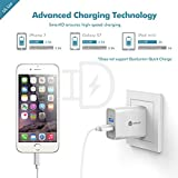 [UL Listed] iClever BoostCube+ 24W Dual USB Wall Charger | Travel Charger, 2 SmartID Port USB Power Adapter for iPhone X / 8 / 7 / 7 Plus / 6S / 6 Plus, iPad Pro Air / Mini and other Cellphone, Tablet