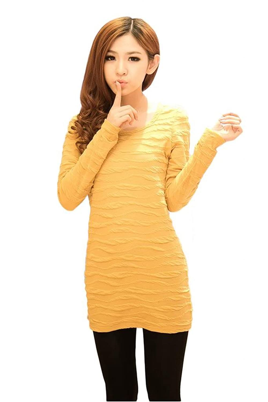 ADS Women's polyester fiber Knurling One Piece Dress
