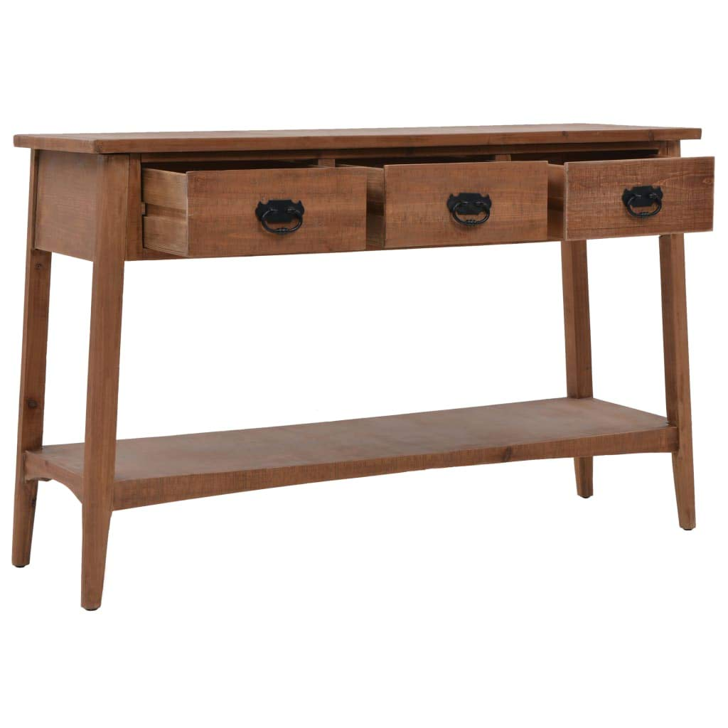 vidaXL Table Console Bois Sapin Massif Marron Table dAppoint Table Auxiliaire