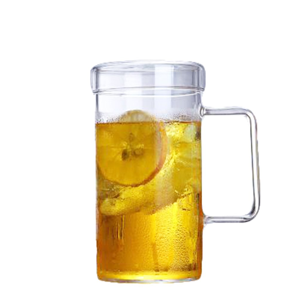 Clear Glass Mug Beer Bulk with Handle Coffee Cup Large for Tea Beer Wine 12 oz(Size1)