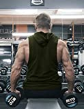 COOFANDY Mens Workout Hooded Tank Tops
