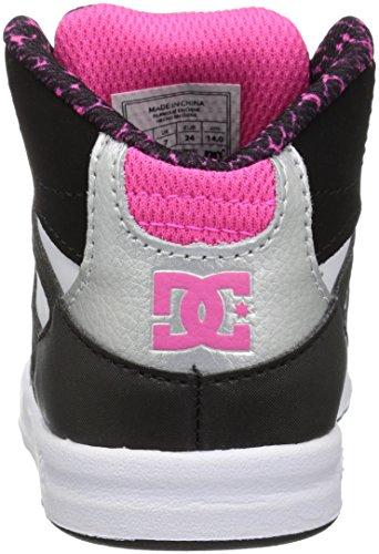 Scarpe Da Skate Dc Gioventù Rimbalzo Nero / Bianco / Rosa