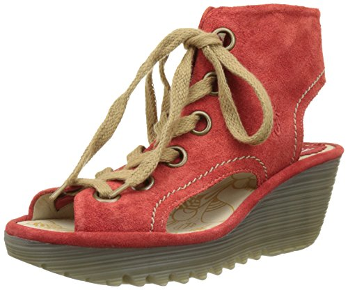 Fly London Yaba702fly, Sandali Donna Rosso (Street Red 001)