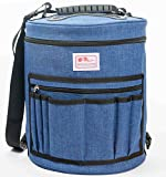 Knitting Bag Tote by Woolove: Large enough for any project with dividers and partitions to prevent yarn tangling.