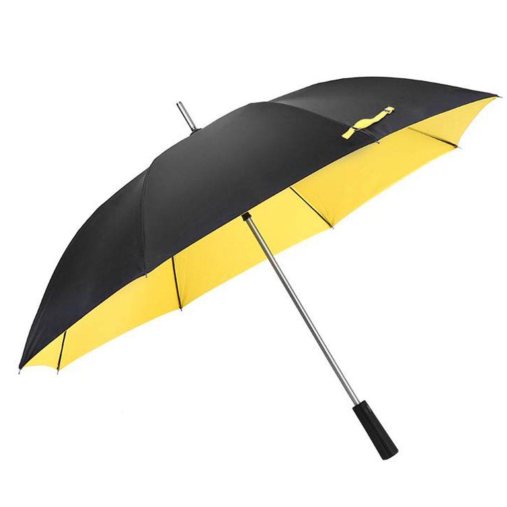 Mango Largo Paraguas Grandes Hombres y Mujeres Doble Tres Personas Golf Paraguas Negocio automático Doble Capa a Prueba de Viento Caña Recta Paraguas de ...