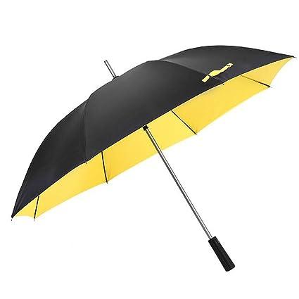 Mango Largo Paraguas Grandes Hombres y Mujeres Doble Tres Personas Golf Paraguas Negocio automático Doble Capa