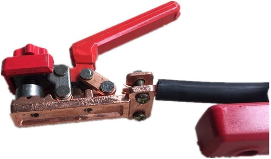 Maniny Soporte de electrodo de Soldadura Buena Abrazadera de Soldadura de Cable Resistente al Calor Duradera Soporte de electrodo Grasschen
