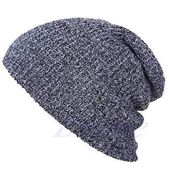 47cfc0cdbc73ce Winter Casual Cotton Knit Hats for Women Men Baggy Beanie Hat Crochet  Slouchy Oversized Ski Cap Warm Skullies Toucas Gorros: Amazon.in: Beauty