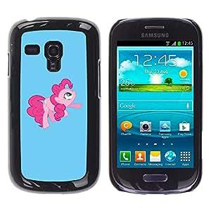 TECHCASE**Cubierta de la caja de protección la piel dura para el ** Samsung Galaxy S3 MINI NOT REGULAR! I8190 I8190N ** Pony Pink Tail Hore Fairytale Childresn