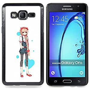 - Love Heart Princess Anime Japanese - - Snap-On Rugged Hard Cover Case Funny HouseFOR Samsung Galaxy On5 SM-G550FY G550