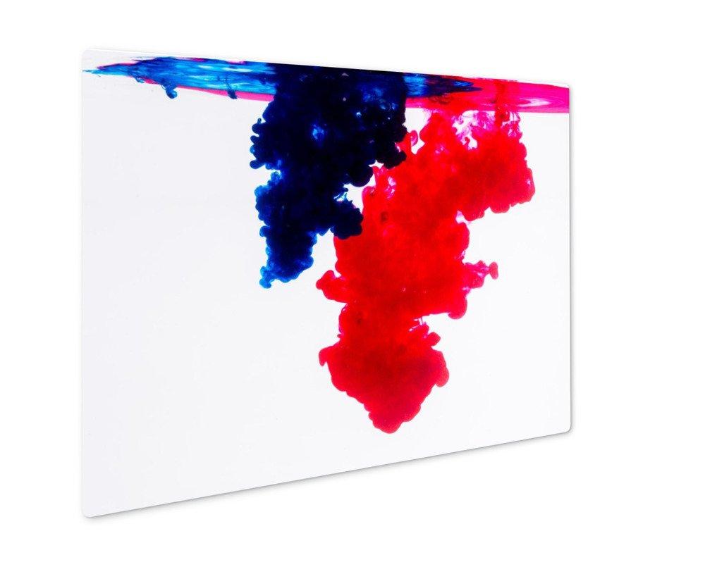 ashley gicleeブルーandレッドアクリル色 壁アートフォトメタルパネルの