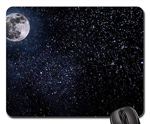 Mouse Pads - Night Sky Moon Stars Midnight Halloween Dark]()