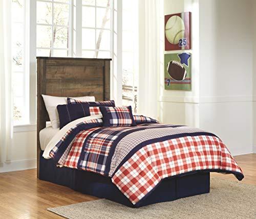 Bedroom Signature Design by Ashley Trinell Rustic Panel Headboard, Twin, Warm Brown farmhouse headboards