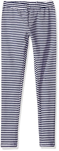 Scout + Ro Girls' Striped Jersey Legging, Flag Blue, (Jersey Ankle Leggings)