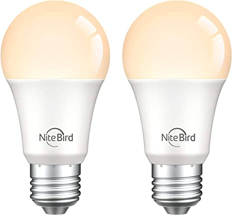 No Hub Smart Light Bulb Works with Alexa and Google Home NiteBird WiFi 4 pack
