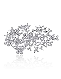 YAZILIND Bride Hair Clip Simple Style Shiny Rhinestones Women Wedding Headdress Hair Accessories