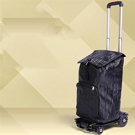 HCC& Trolley Dolly De múltiples fines Portátil Aleación de aluminio Ligero y resistente Plegable Casa Viajar