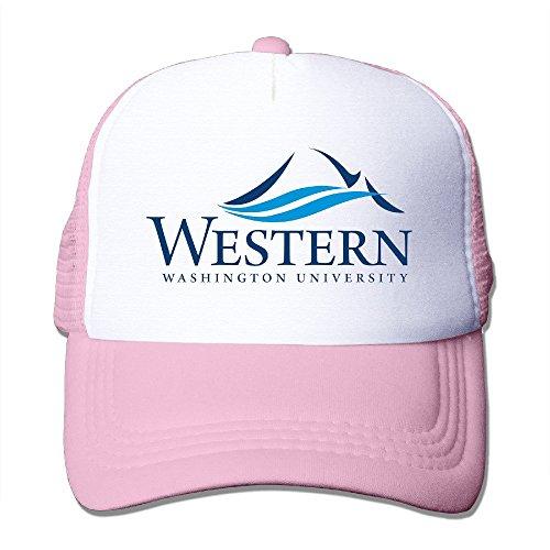 Occidental béisbol adultos 100 Rosado de Gorra deporte Universidad de sombrero nailon Washington awrxRafq