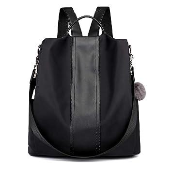 d7bf624efd3e2 MORGLOVE Damen Rucksack Elegant Schultertasche Wasserdicht Nylon Tasche mit  Viele Taschen Anti Diebstahl für Tägliche Uni