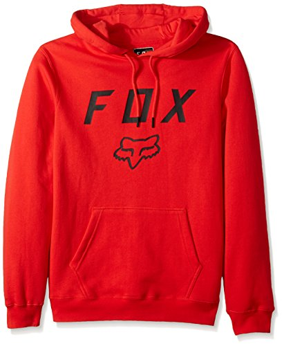 Fox Men's Legacy Moth Pullover Fleece, Flame Red, Small