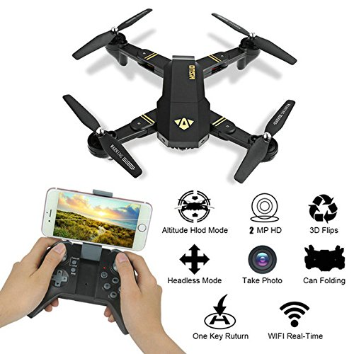 Toy, Play, Fun, In Stock RC Dron Visuo XS809W XS809HW Mini Foldable Selfie Drone with Wifi FPV 0.3MP or 2MP Camera Altitude Hold QuadcopterChildren, Kids, Game