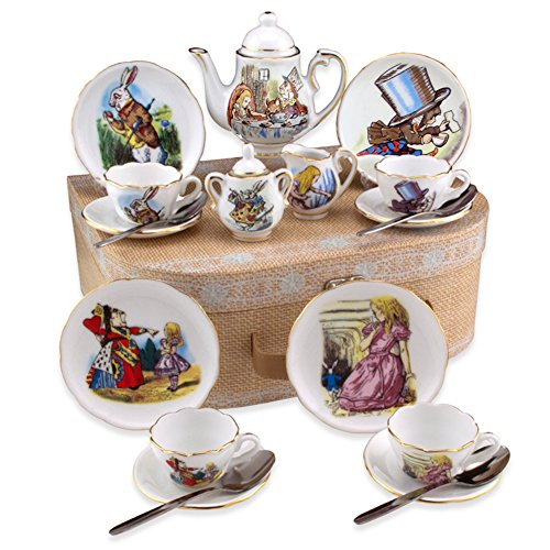 Reutter Porcelain Alice in Wonderland Medium Tea Set in Case
