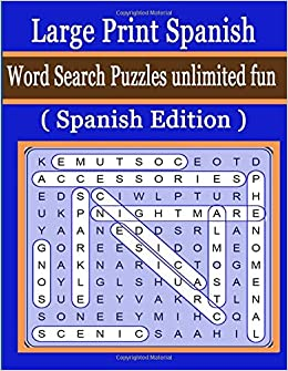 graphic about Printable Spanish Word Search Answers referred to as Heavy Print Spanish Term Appear Puzzles infinite enjoyment