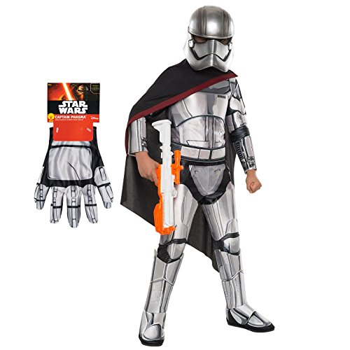 Star Wars Captain Phasma Costume Bundle - Deluxe Child Small Costume & Gloves]()