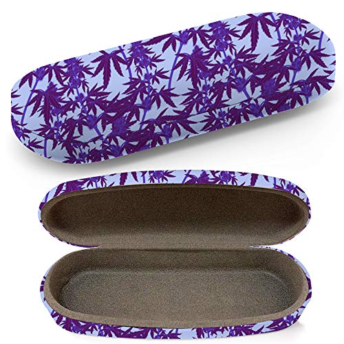 Hard Shell Glasses Protective Case With Cleaning Cloth Eyeglasses Sunglasses - Legal Medicine Cannabis Marijuana