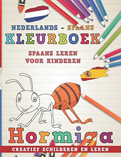 Kleurboek Nederlands - Spaans I Spaans leren voor kinderen I Creatief schilderen en leren (Talen leren) por nerdMediaNL