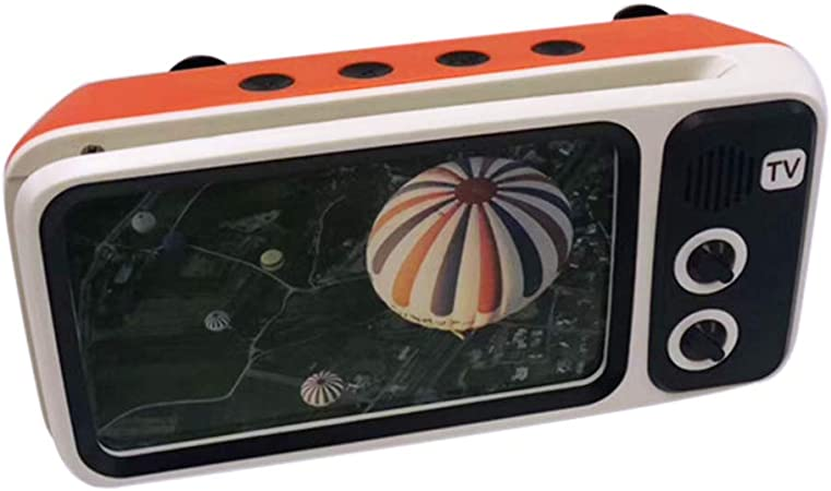 RIsxffp Altavoz PTH800 Retro TV Mini portátil Inalámbrico Bluetooth Super Bass Altavoz Soporte para teléfono Orange: Amazon.es: Hogar