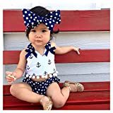 Infant Baby Girls Clothes Anchor Tops+Polka Dot