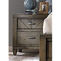Liberty Furniture Modern Country Bedroom 2-Drawer Night Stand, Harvest Brown Finish
