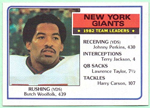 1983-Topps-New-York-Giants-Team-Leaders-120-Butch-Woolfolk